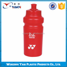 Branded plastic water bottle, plastic water bottle self sealing lid in different shapes, BPA free recycling plastic water bottle