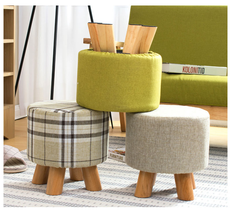 New Arrival  Solid Wholesale Customized  Children's Home Furniture Wood Stool