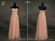 Real Samples 2014 Sweetheart Neckline Sheath Vogue Lace And Tulle Evening Dress