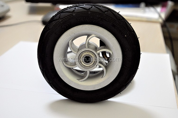small 5 inch 5x1 pneumatic rubber wheel
