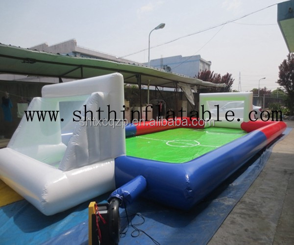 cheap price inflatable water soccer field
