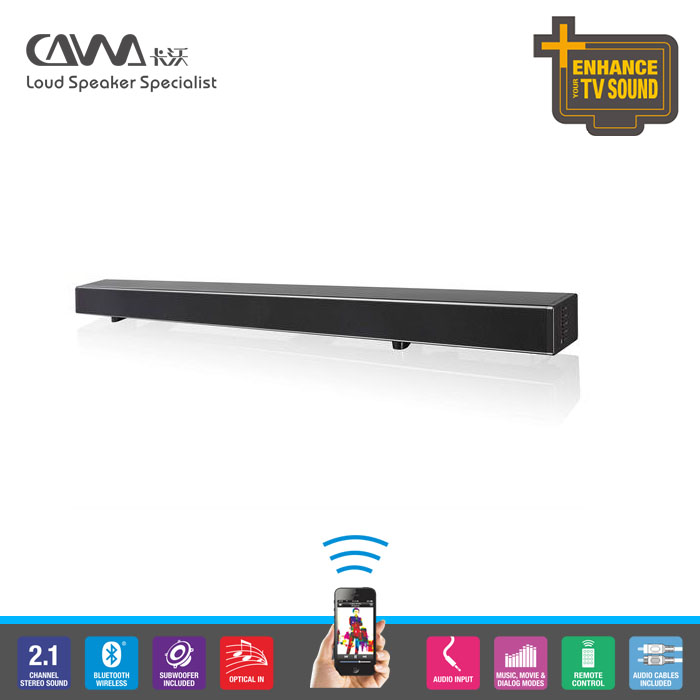 soundbar hometheater speaker factory super bass bluetooth sound bar 2.1