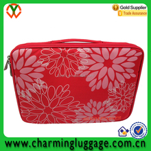 Promotional Beautiful Flower Printed 13.6 inch Red Laptop Sleeve
