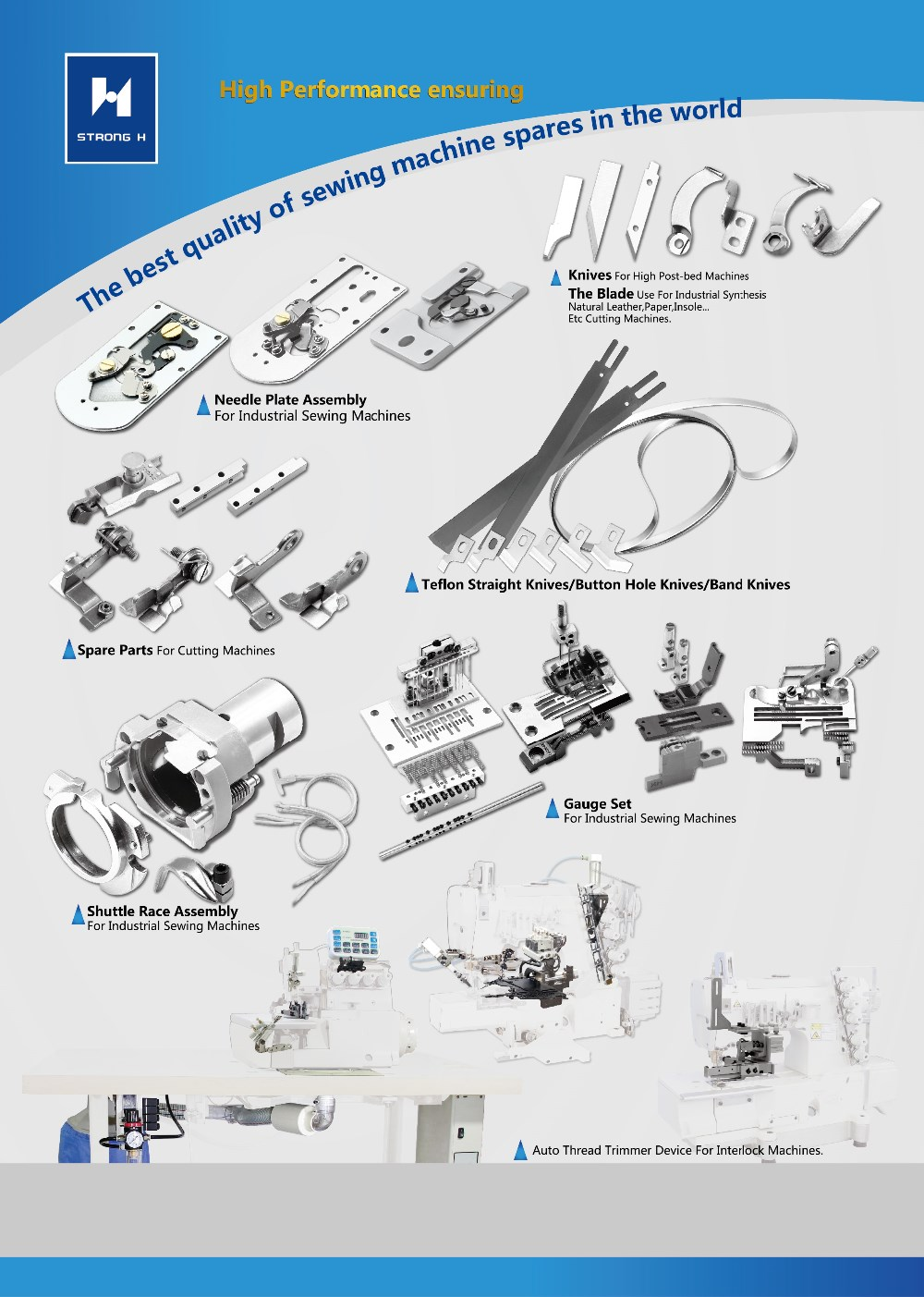 Strongh Knife For Brother Double Needle Sewing Machine Spare Parts Diagram Of S37209 001