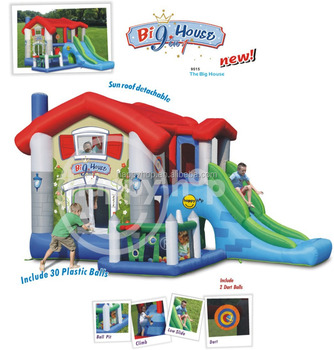Happy Hop Inflatable Bouncer for Kids -9515 The Big House, bouncer castle and big castle