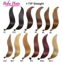 Befa Hair 100% top quality beautiful color 100g/pack straight i tip hair extensions wholesale