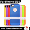 New Fashion Phone Case For iPhone 5 5S Kicktand Holder Back With Hard Bracket Multi Colors Soft TPU Phone Cases in Stcok