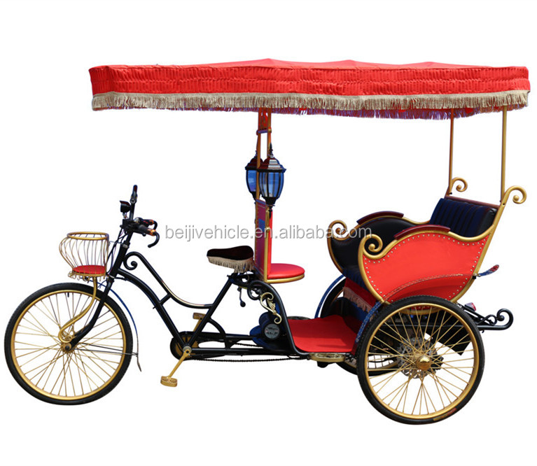 ancient ways three wheel passenger electric manual rickshaw