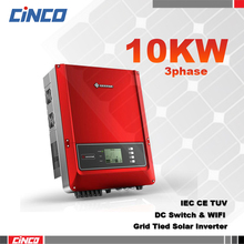 10kw three 3 phase grid tie solar inverter for solar project,big power grid tie solar inverter 10kw