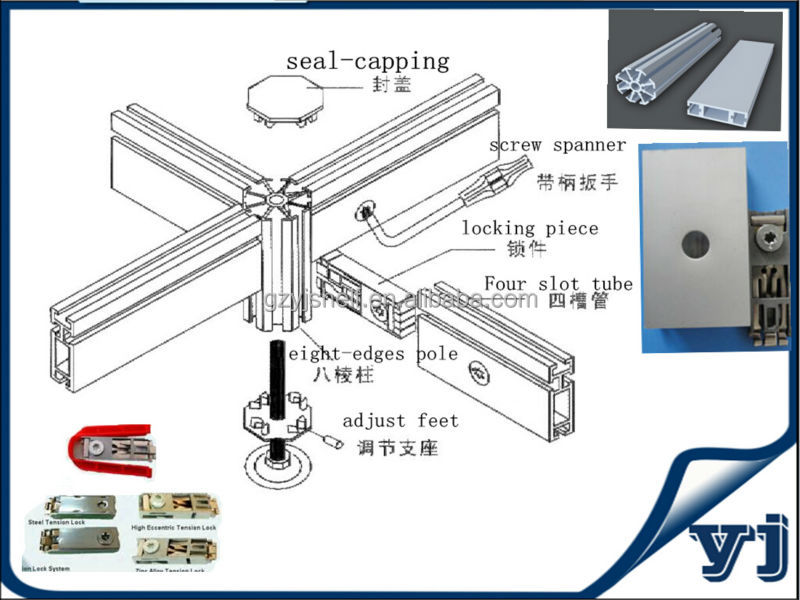 Standard Exhibition Stall Size : Portable aluminium stall shell scheme exhibition booth