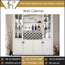 2017 New Design Ivory White Wall Cabinet Furniture for Wine at Competitive Price