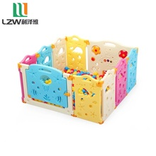 8+2 Colorful game children indoor play plastic fence,baby playpen