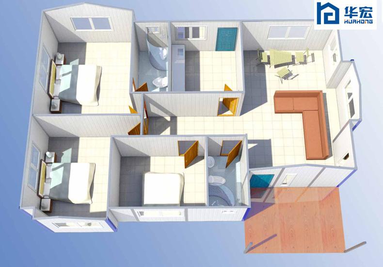 quick installation prefab brick house modern prefab house designs
