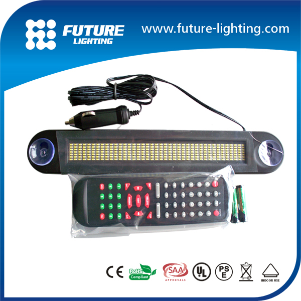 Indoor 7*40 dots shop use , car window programable Led moving sign