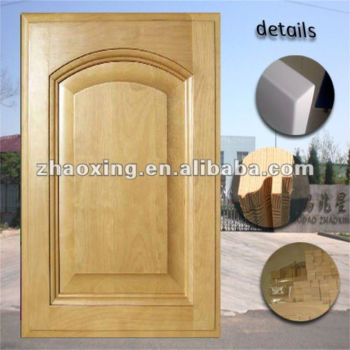 maple arch shaped solid wooden door