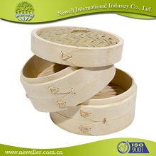 Natural Round commercial induction bamboo food steamer With quality guarantee