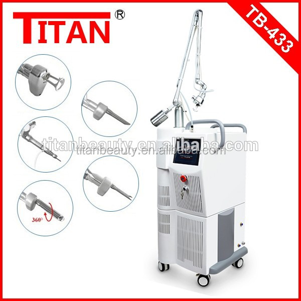 Medical CE erbium laser therapy equipment acne treatment dark circles face lift fractional co2 vaginal rejuvenator laser