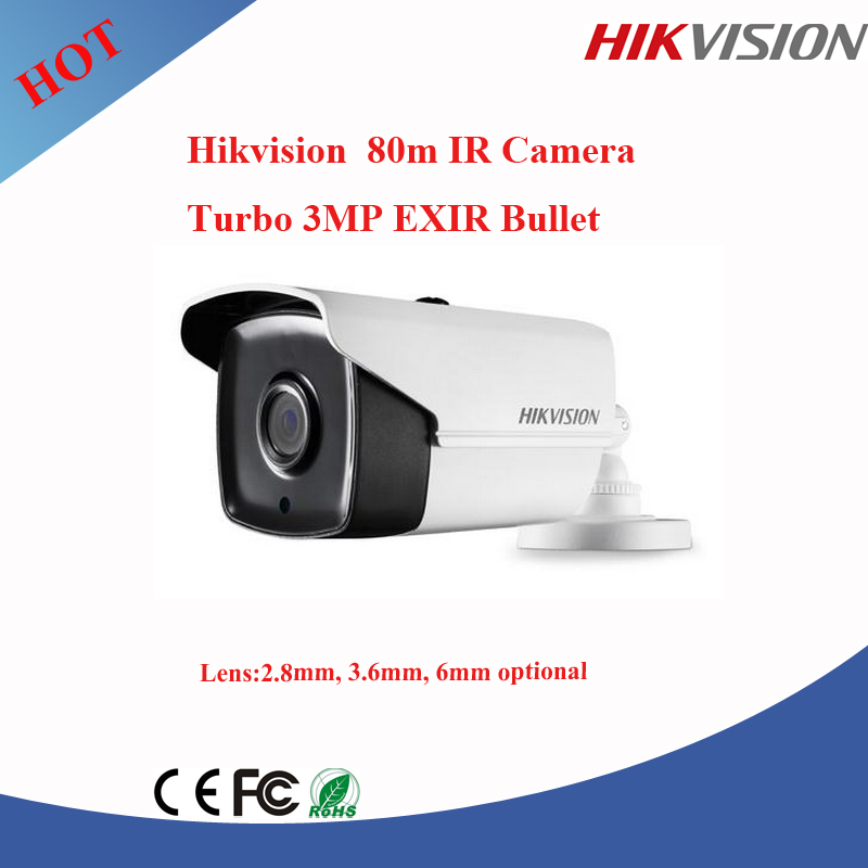 No.1 CCTV Brand Hikvision 3Mp exir tvi camera 80m ir camera mini micro camera DS-2CE16F7T-IT5