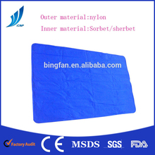Bed cooling mat cooling blanket nylon outer material filled with PCM sorbet