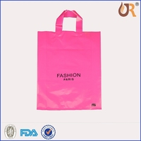 high quality cheaper custom reinforced patch handle die cut bag plastic bag