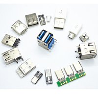 All kinds of Male or female usb connector, micro usb female jack plug connector