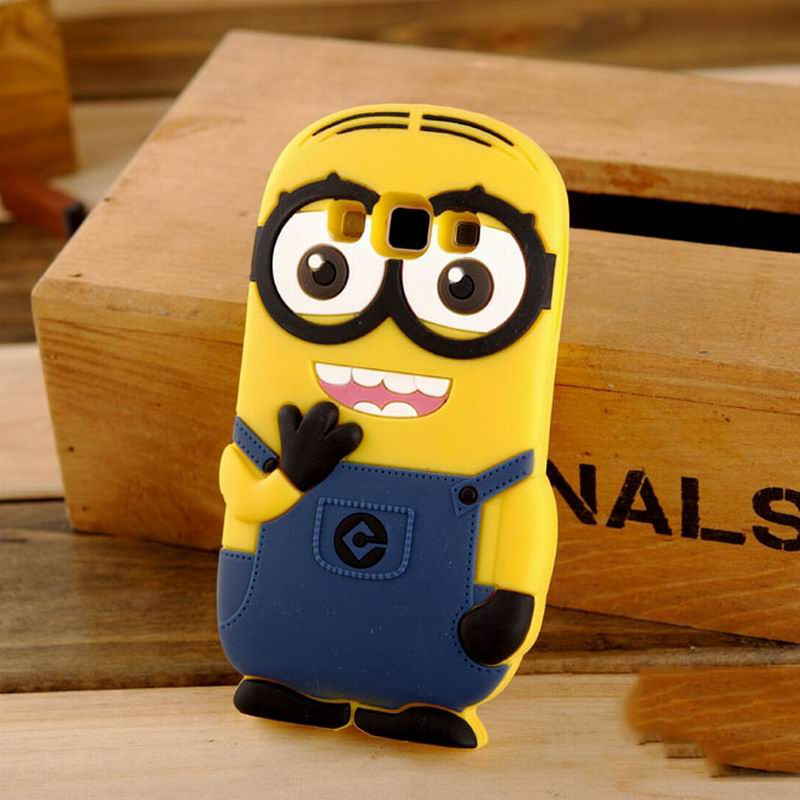 New Arrival Hot Cartoon Despicable Me Yellow Minion Soft Silicon Phone Back Cover Phone Case For Samsung