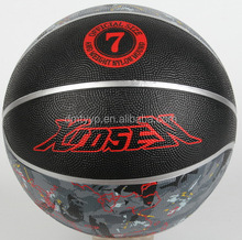 Xidsen,Qianxi Rubber Colorful Basketball size 7,Camouflage designs,bright silver line.map printed