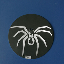 customized horrible metallic spider wall decal labels