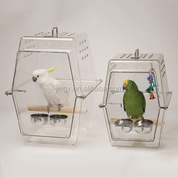 clear transparent acrylic aviary cage for bird