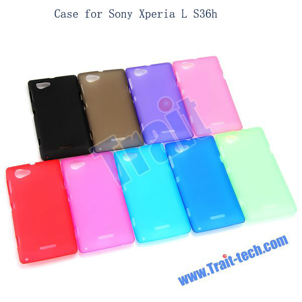 Wholesale Price Flexible Back TPU Cover Case for Sony Xperia L S36h C2105 C2104 C210X