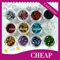 Hot Selling 12color square nail glitter