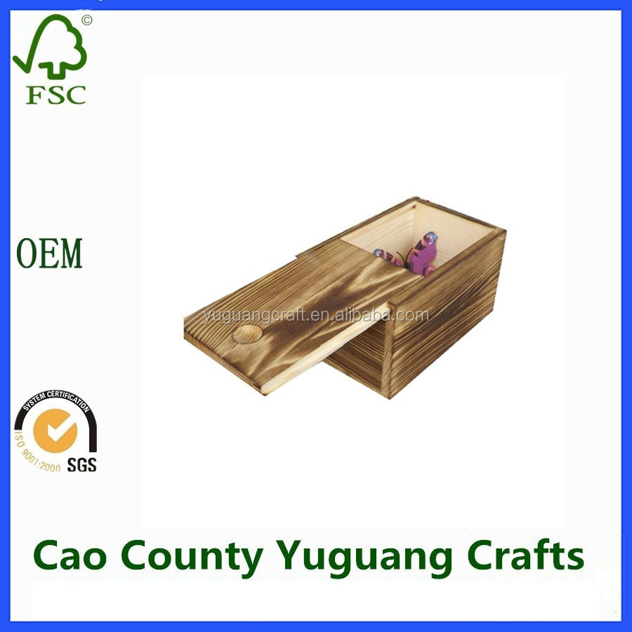 Small Wood Box Packaging Wooden Gift Box/ Wooden Gift Box With Sliding Lid