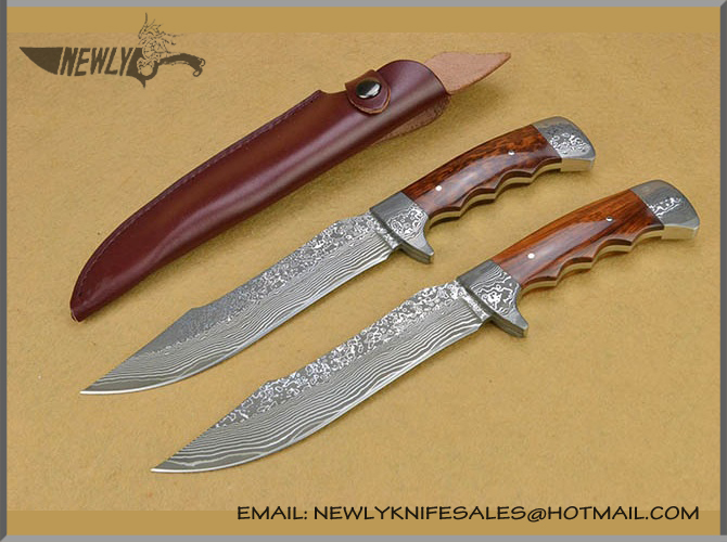 Handmade Damascus Steel Collection Fixed Blade Knife