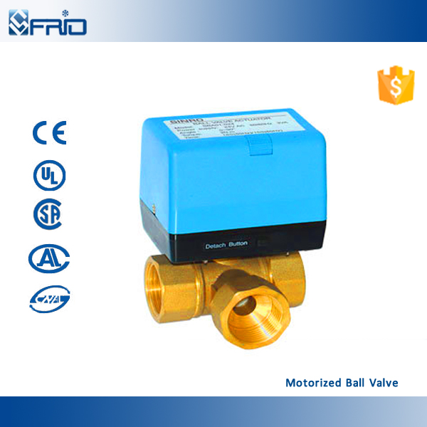 3 way motorized PVC electric ball valve with actuator