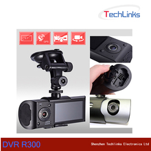 Dual Lens Car DVR X3000 R300 Dash Camera With GPS G-Sensor Camcorder 140 Degree Wide Angle 2.7inch Cam Video Digital Recorder