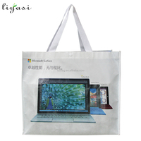 Nonwoven Grocery Tote Shopping bag with laminated print