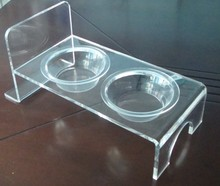 Unique design wall mounted acrylic pet bowl for dogs and cats
