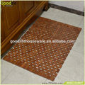 High quality waterproof teak wood novelty bath mats