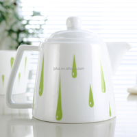 Logo customized ceramic coffee super white porcelain tea pot