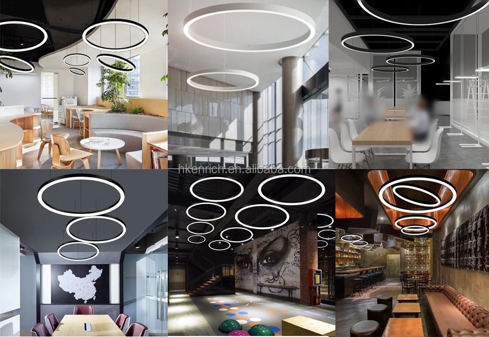 30W,40W,60W Modern LED pendant light Round circle for bedroom living room ring light
