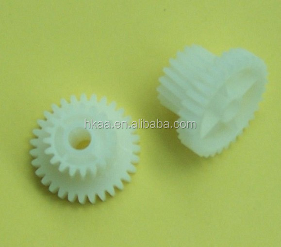 plastic double spur gear combination gear for laser printer ,precsion plastic printer gear,fixing gear for HP printer