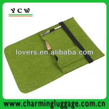 New design felt green custom laptop bag