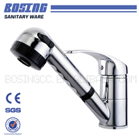 High Fashion Foshan Factory Brass Body Zinc Alloy Handle Pull Out Spray Kitchen Mixer Tap