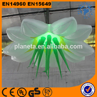 LED Light Hanging Giant Inflatable Flower Decoration For Party Event