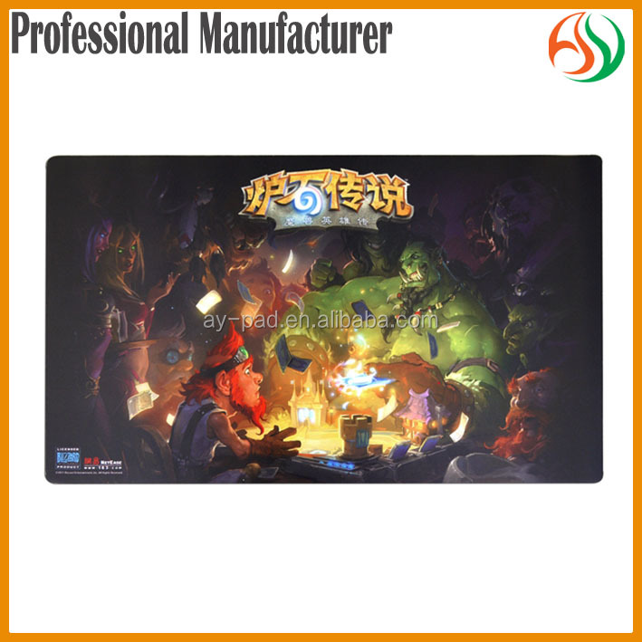 AY Foldable Heroes of Warcraft Custom Printing Playmat Keyboard Playmat Card Game Play Mat, Non-slip Rubber Playmat