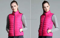 2016 women winter ultra-light down vest