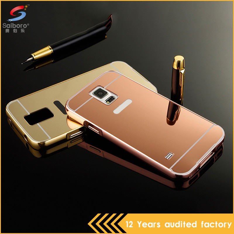 Wholesale bulk cheap double color in one mobile phone metal case for samsung s5