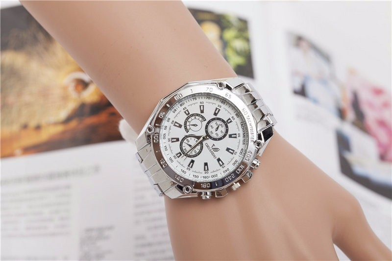 hotselling style three-eye alloy quartz lady watch business watch