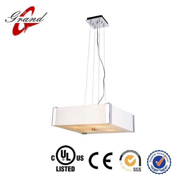 Modern Guangzhou Square plastic Acrylic pendent light with clear cable