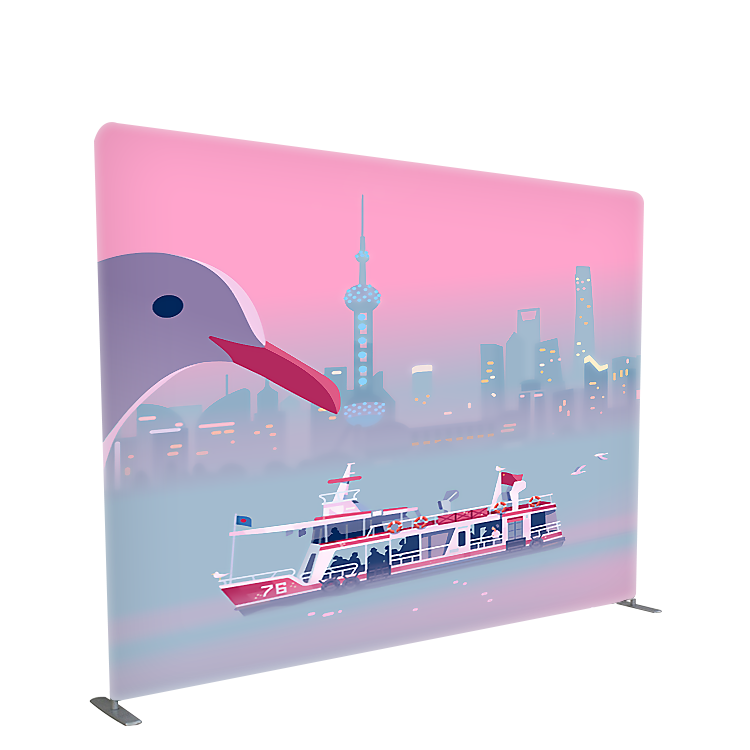 Custom size 10ft 8ft tension fabric backdrop display trade <strong>show</strong> exhibit portable wall